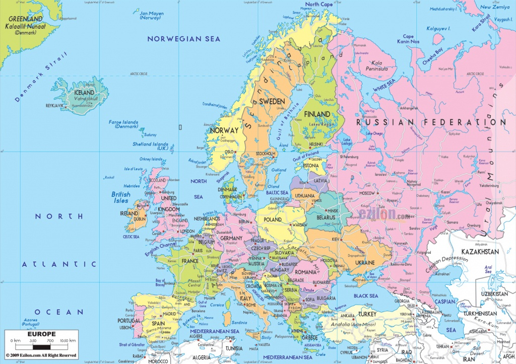 Maps Of Europe   Map Of Europe In English   Political - Printable Map Of Europe With Cities