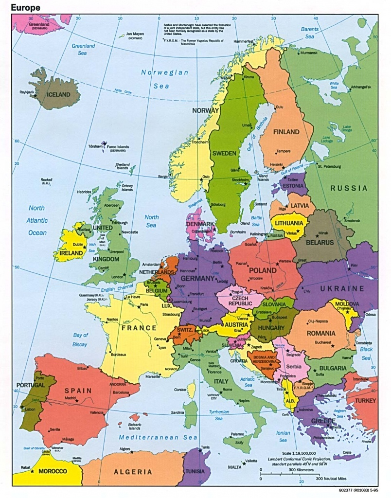 Maps Of Europe | Map Of Europe In English | Political - Printable Map Of Europe With Major Cities