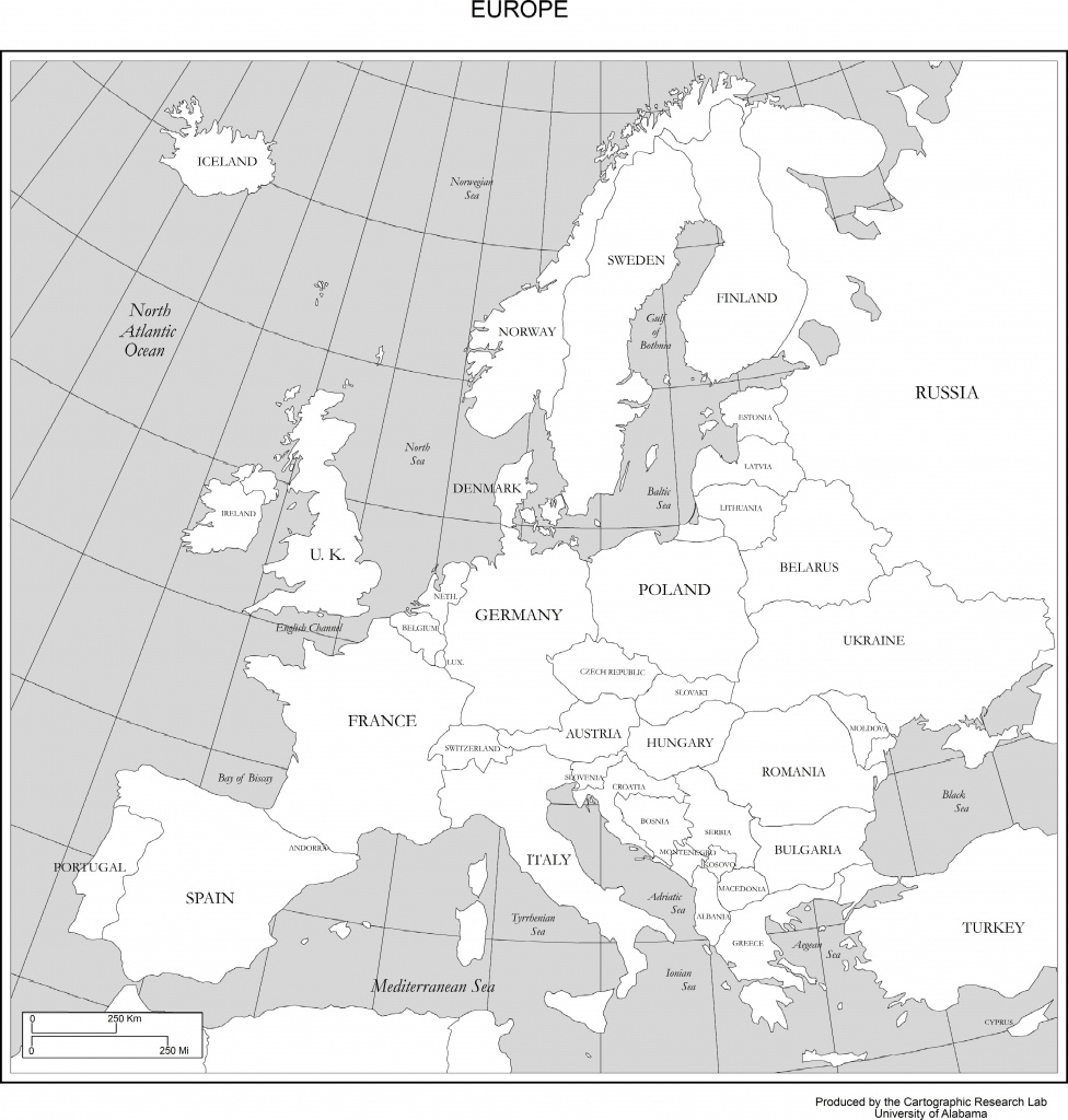 Maps Of Europe - Printable Map Of Europe With Countries And Capitals