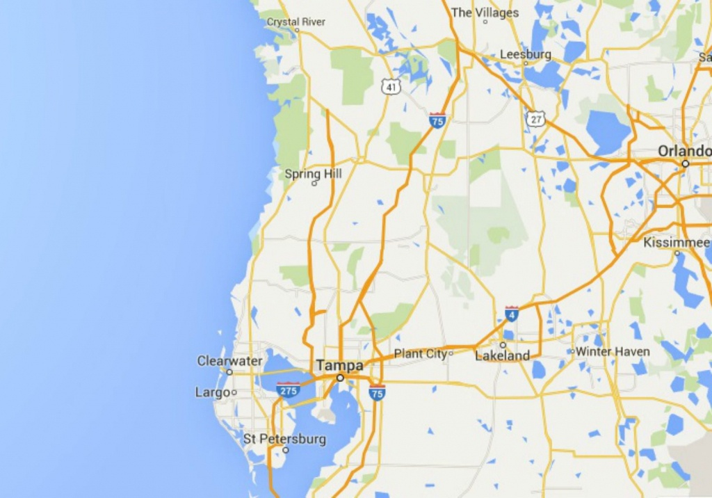 Maps Of Florida: Orlando, Tampa, Miami, Keys, And More - Google Maps Clearwater Florida