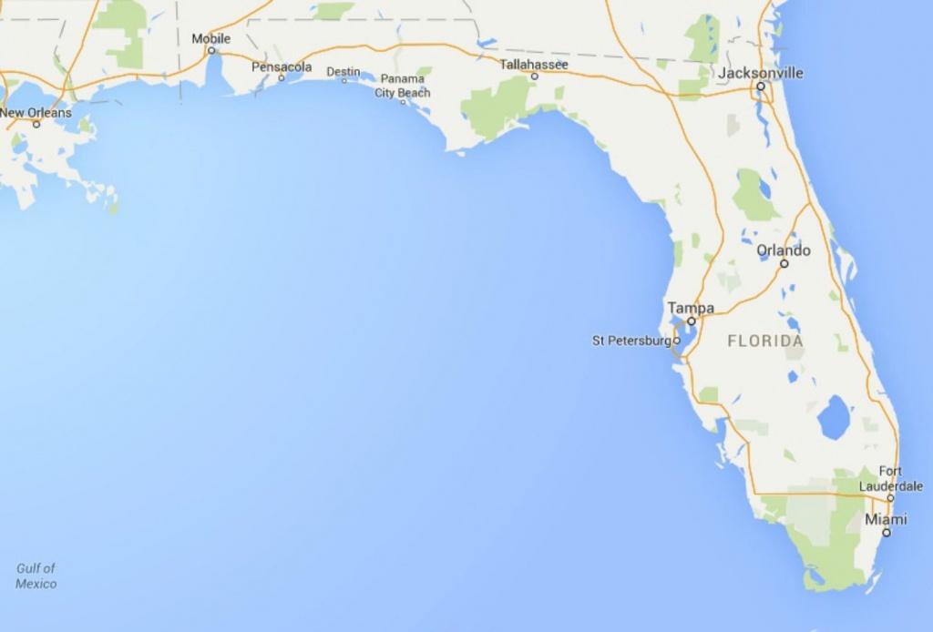 Maps Of Florida: Orlando, Tampa, Miami, Keys, And More - Google Maps Florida Panhandle