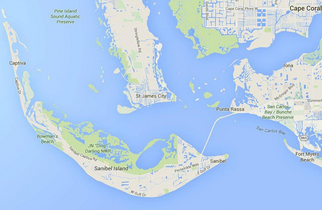 Maps Of Florida: Orlando, Tampa, Miami, Keys, And More - Sanibel Island Florida Map