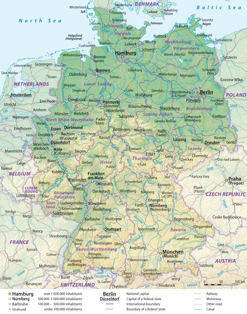 Maps Of Germany   Detailed Map Of Germany In English   Tourist Map - Free Printable Map Of Germany
