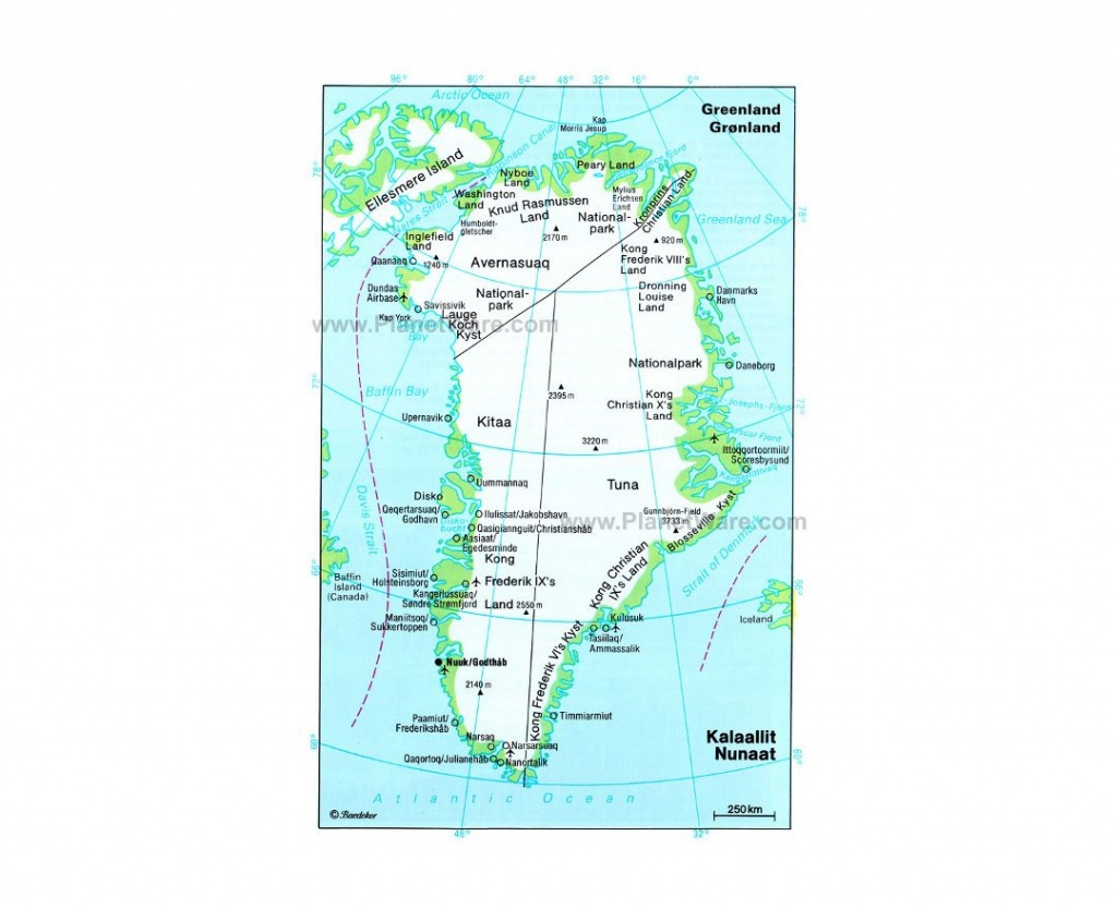 Maps Of Greenland | Collection Of Maps Of Greenland | North America - Printable Map Of Greenland