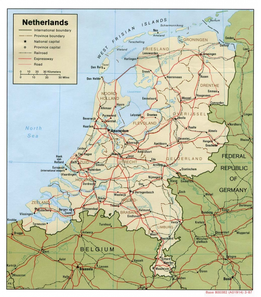 Maps Of Holland   Detailed Map Of Holland In English   Tourist Map - Printable Map Of Holland