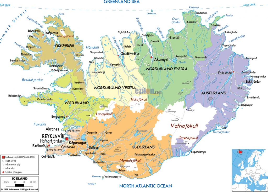 Maps Of Iceland | Detailed Map Of Iceland In English |Tourist Map Of - Printable Map Of Iceland