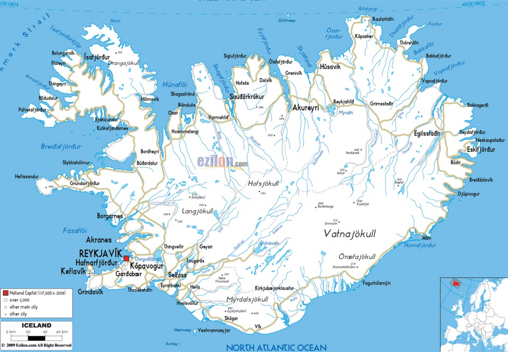 Maps Of Iceland | Detailed Map Of Iceland In English |Tourist Map Of - Printable Tourist Map Of Iceland