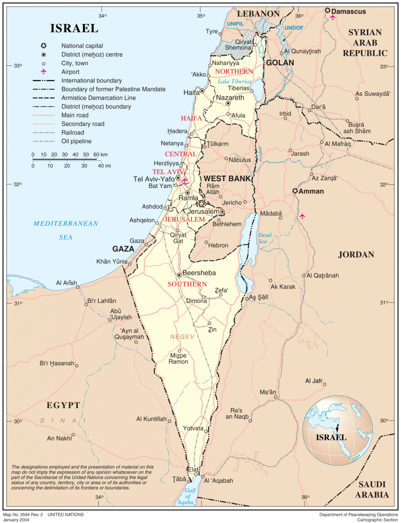 Maps Of Israel - Geolounge: All Things Geography - Blank Map Israel Printable