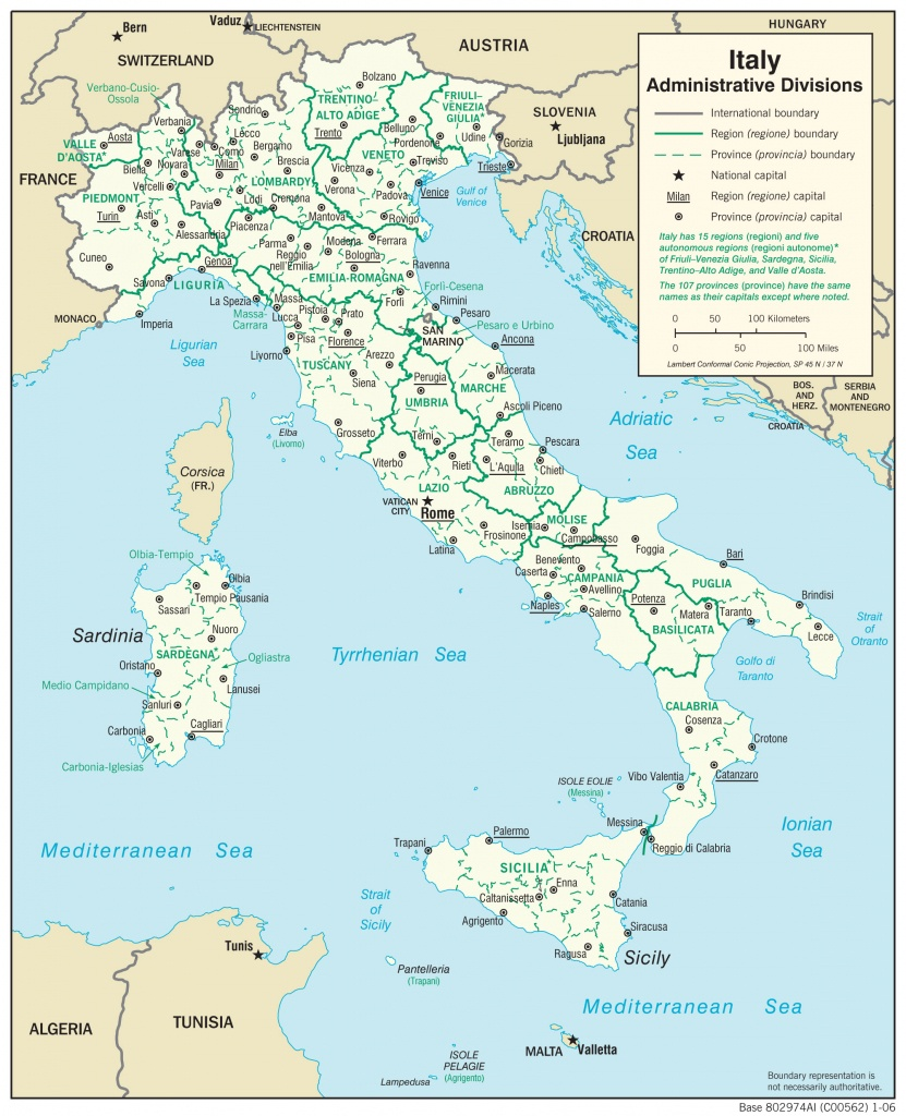 Maps Of Italy | Detailed Map Of Italy In English | Tourist Map Of - Printable Map Of Italy With Regions