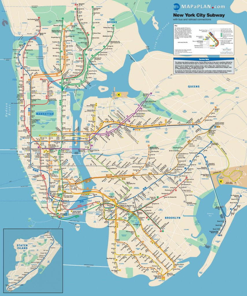 Maps Of New York Top Tourist Attractions - Free, Printable - Map Of Manhattan Nyc Printable