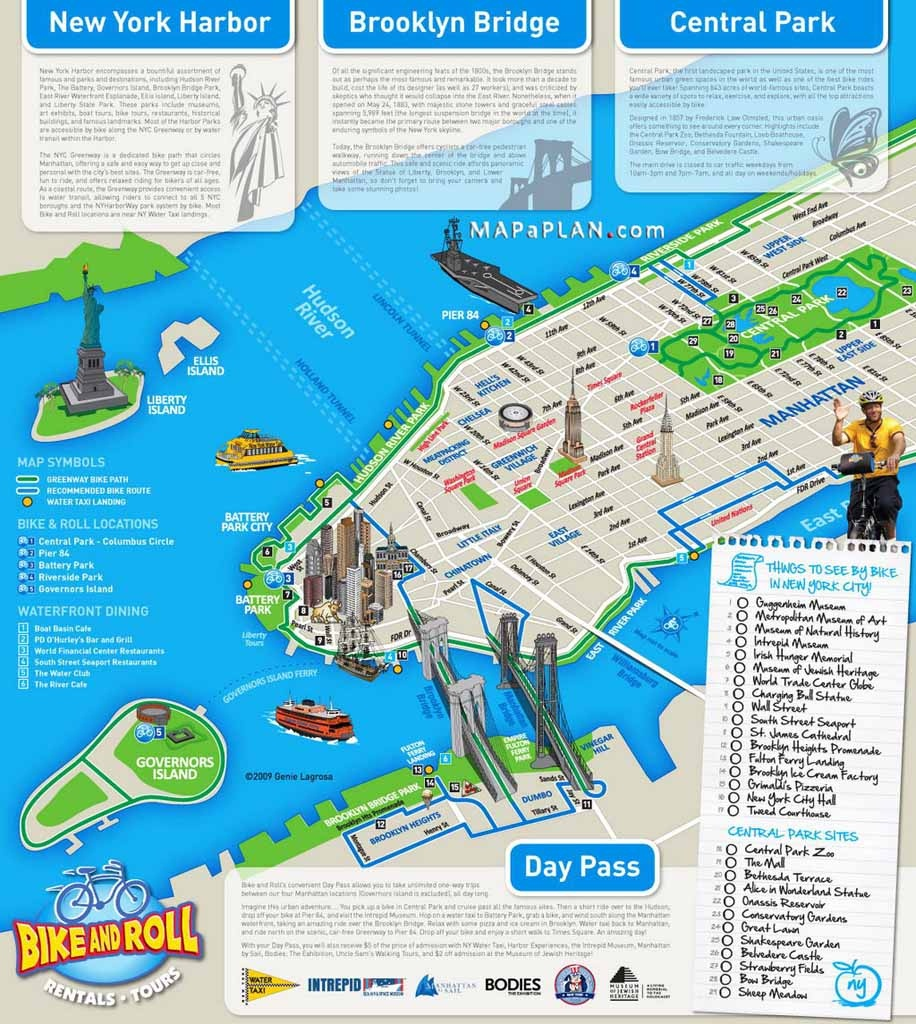 Maps Of New York Top Tourist Attractions - Free, Printable - Map Of Nyc Attractions Printable