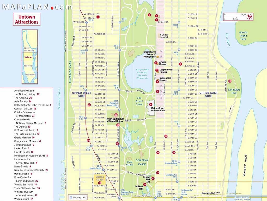 Maps Of New York Top Tourist Attractions - Free, Printable - Nyc Walking Map Printable