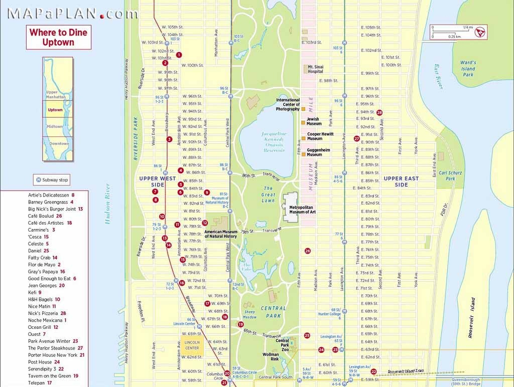 Maps Of New York Top Tourist Attractions - Free, Printable - Printable Street Map Of Manhattan Nyc