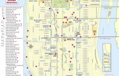 Maps Of New York Top Tourist Attractions   Free, Printable   Printable Walking Map Of Manhattan