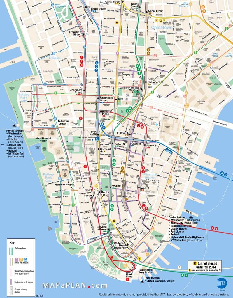 Maps Of New York Top Tourist Attractions - Free, Printable - York Street Map Printable