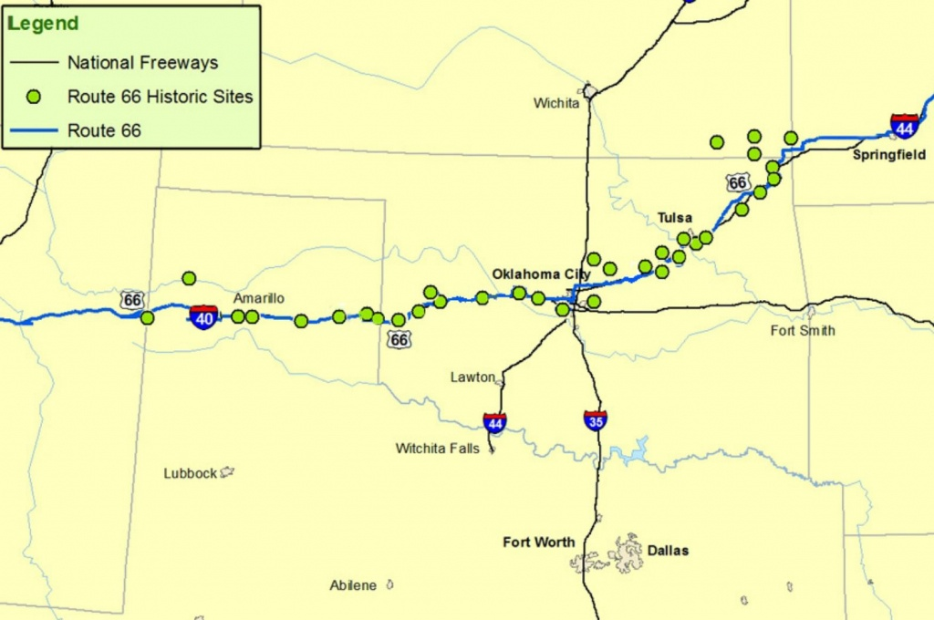 Maps Of Route 66: Plan Your Road Trip - Map Of I 40 In Texas