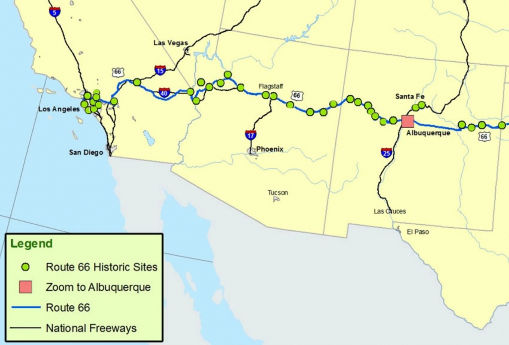 Maps Of Route 66: Plan Your Road Trip - Road Map From California To Texas