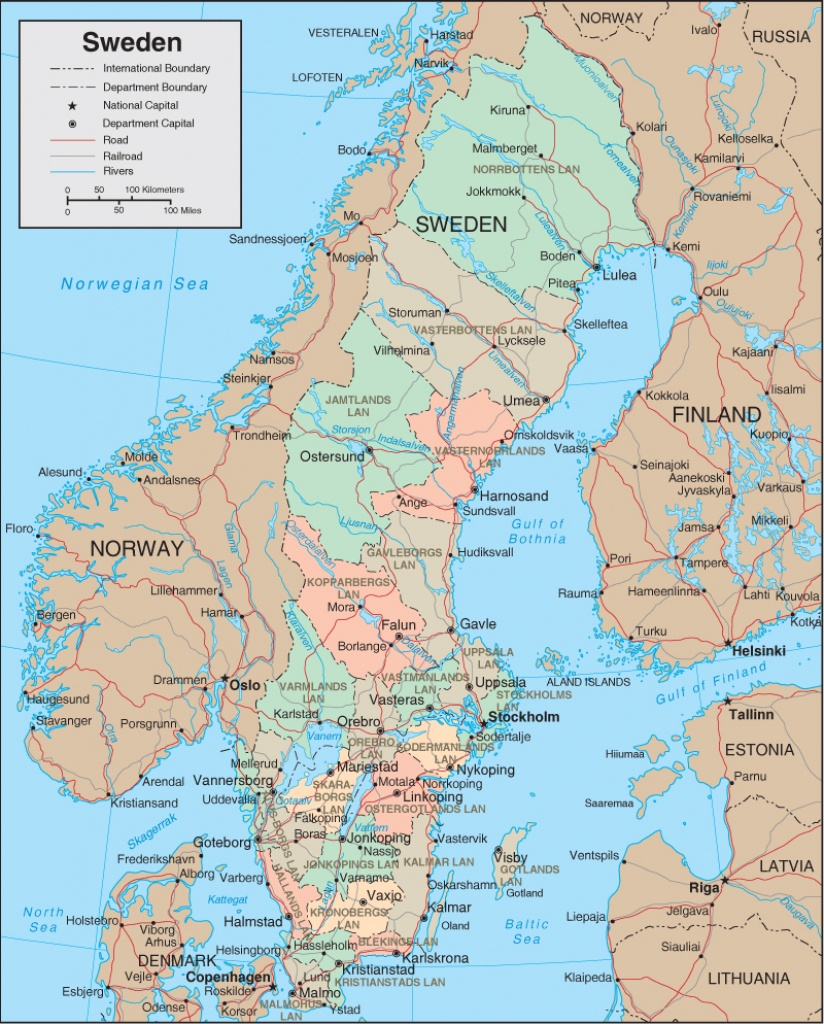 Maps Of Sweden | Detailed Map Of Sweden In English | Tourist Map Of - Printable Map Of Sweden