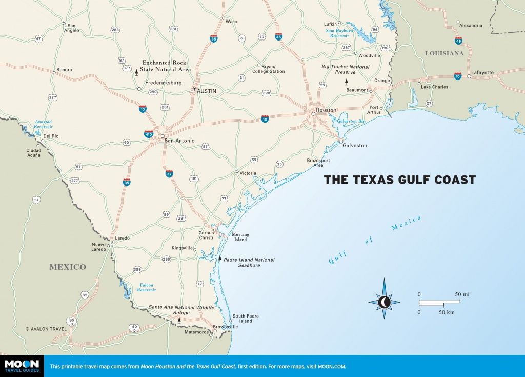 Maps Of Texas Gulf Coast And Travel Information | Download Free Maps - Crystal Beach Texas Map