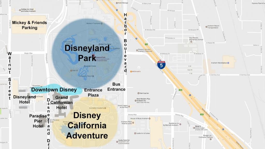 Maps Of The Disneyland Resort - Map Of Anaheim California And Surrounding Areas