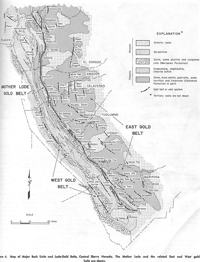 Maps Of The Mother Lode Area Within California: | Resources | Mother - California Gold Prospecting Map