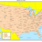 Maps Of The United States   Printable Map Of Usa With Major Cities
