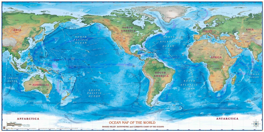 Maps Of The World Oceans - Maplewebandpc - World Ocean Map Printable