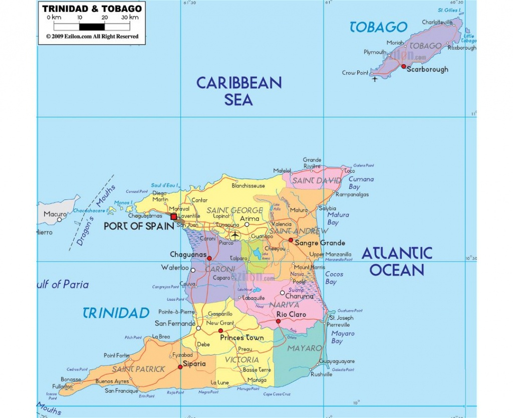 Maps Of Trinidad And Tobago | Collection Of Maps Of Trinidad And - Printable Map Of Trinidad And Tobago
