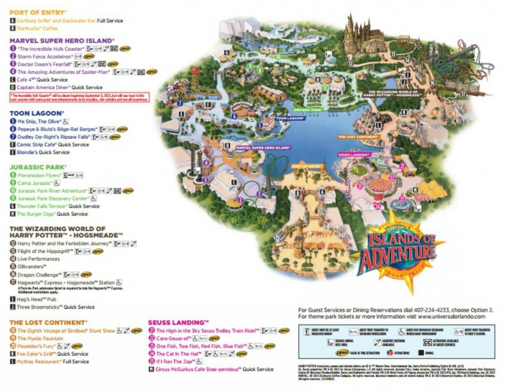 Maps Of Universal Orlando Resort's Parks And Hotels - Map Of Theme Parks In Florida