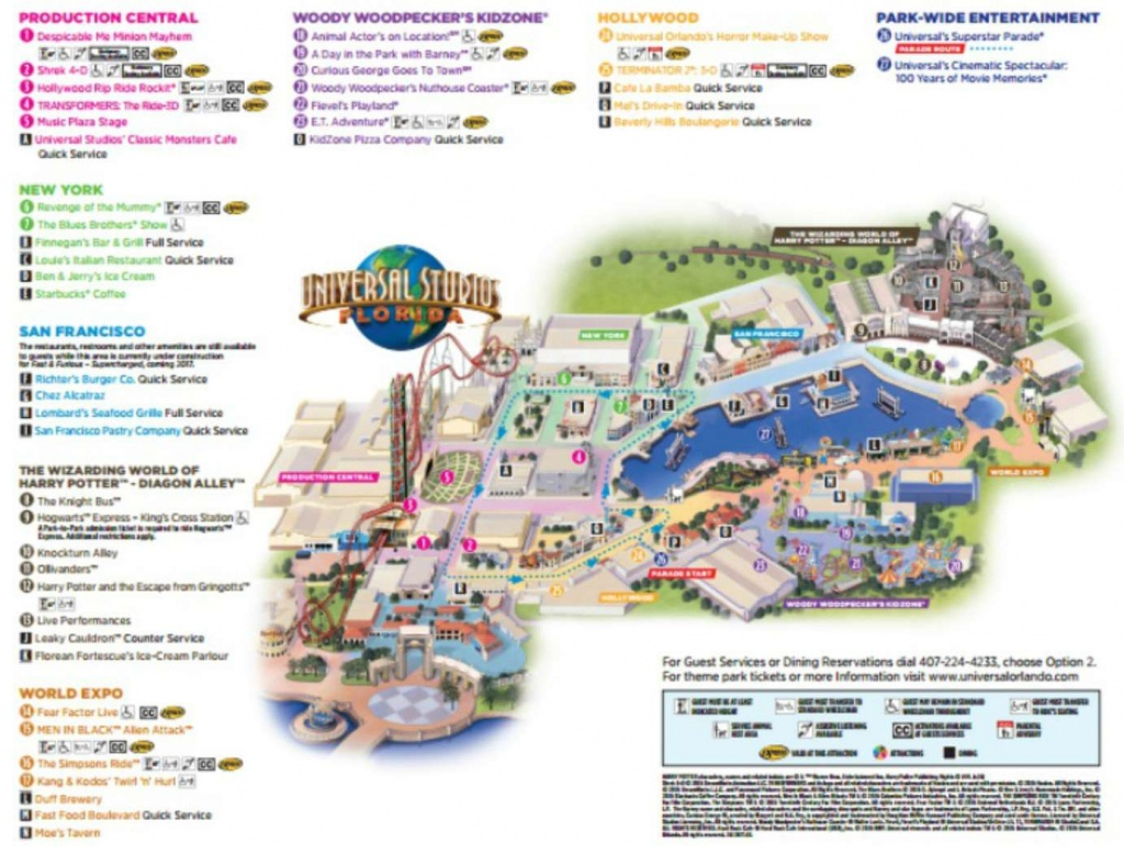 Maps Of Universal Orlando Resort's Parks And Hotels - Universal Florida Park Map