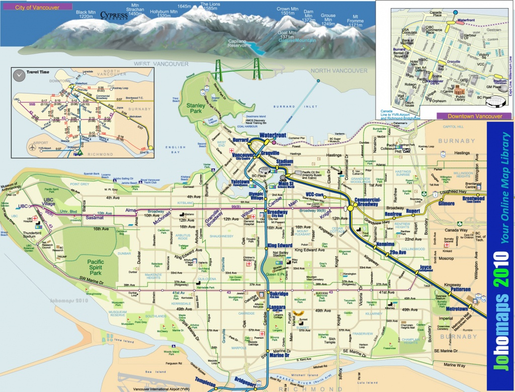 Maps Of Vancouver - Johomaps - Printable Map Of Vancouver