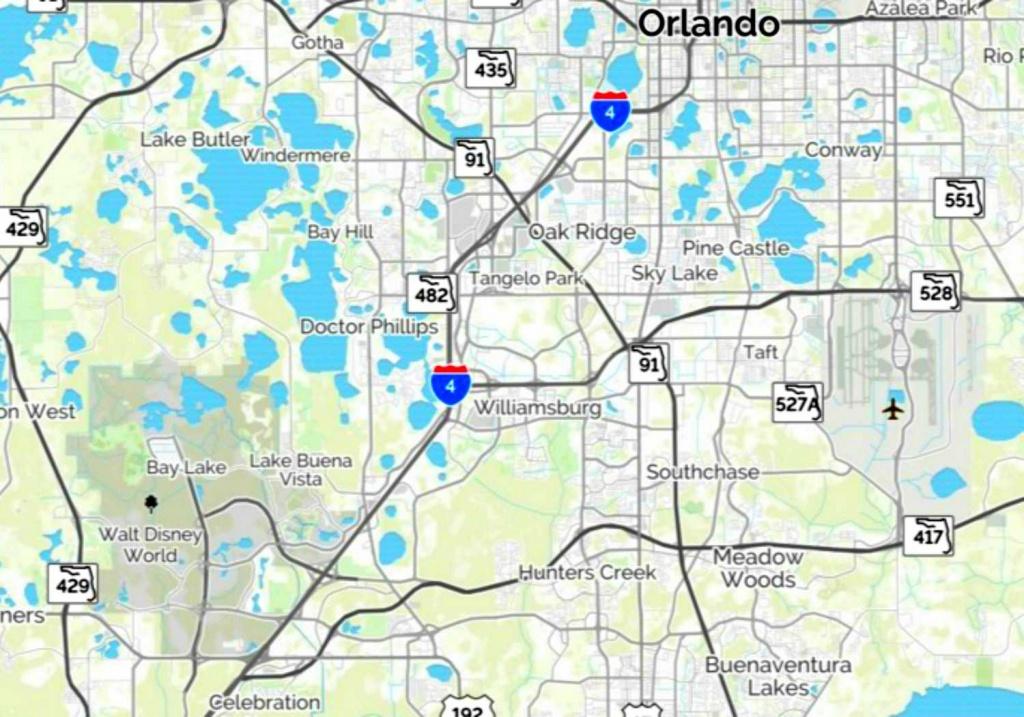 Maps Of Walt Disney World's Parks And Resorts - Disney Florida Map