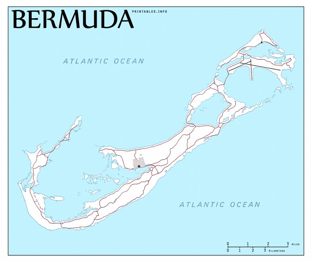 Maps/ On Printables - Printable Map Of Bermuda