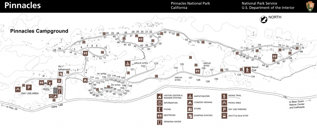 Maps - Pinnacles National Park (U.s. National Park Service) - California State Parks Camping Map