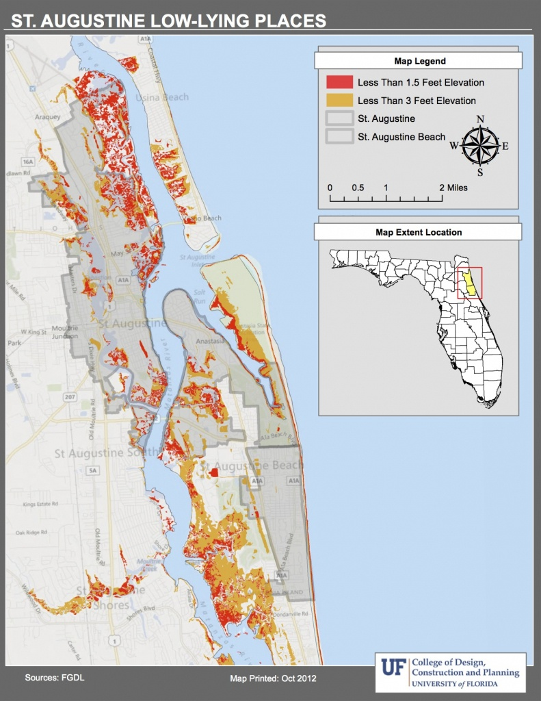 Maps | Planning For Sea Level Rise In The Matanzas Basin - Map Of Palm Coast Florida Area