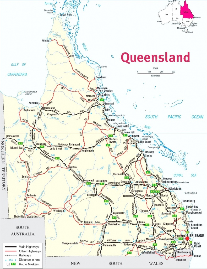Maps Qld Australia Google 4 6 New - Capitalsource - Queensland Road Maps Printable