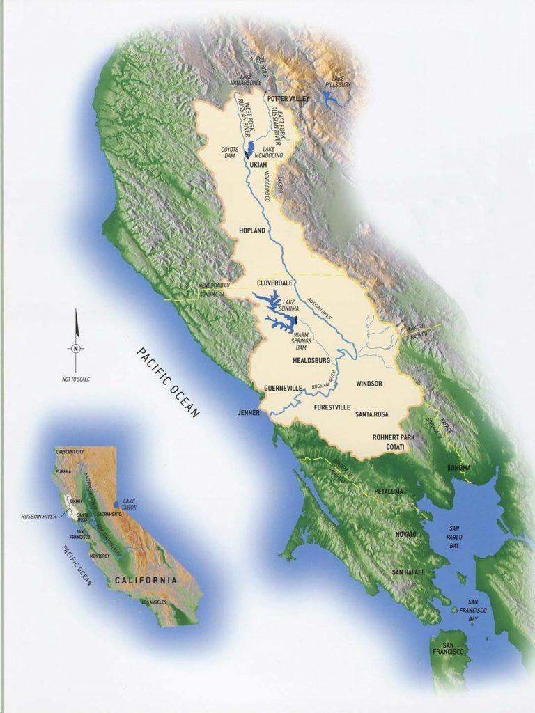 Maps | Russian Riverkeeper - Russian River California Map