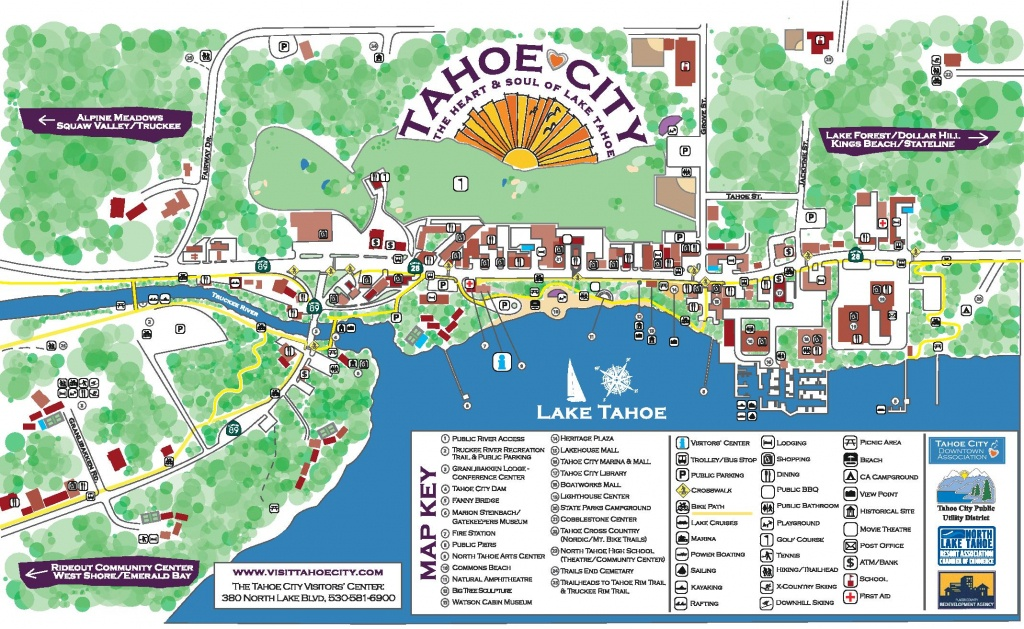 Maps - Tahoe City Downtown Association - Tahoe City California Map