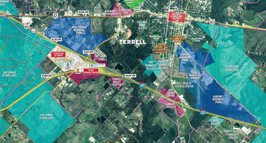 Maps   Terrell, Texas Economic Development Corporation - Terrell Texas Map