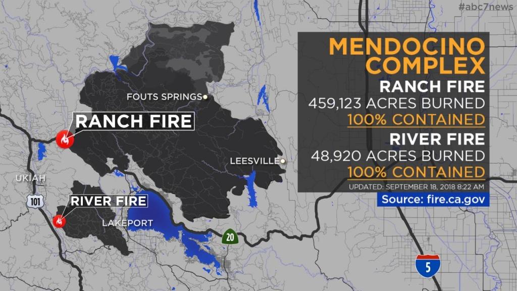 Maps: Wildfires Burning Across California   Abc7News - Abc News California Fires Map
