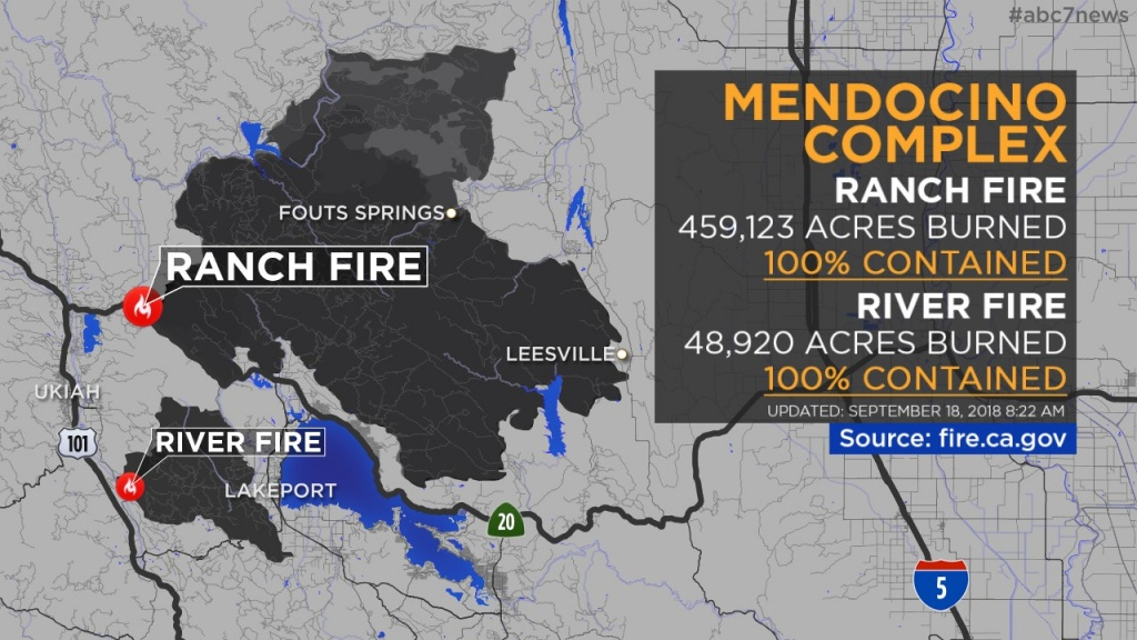 Maps: Wildfires Burning Across California | Abc7News - Southern California Campgrounds Map
