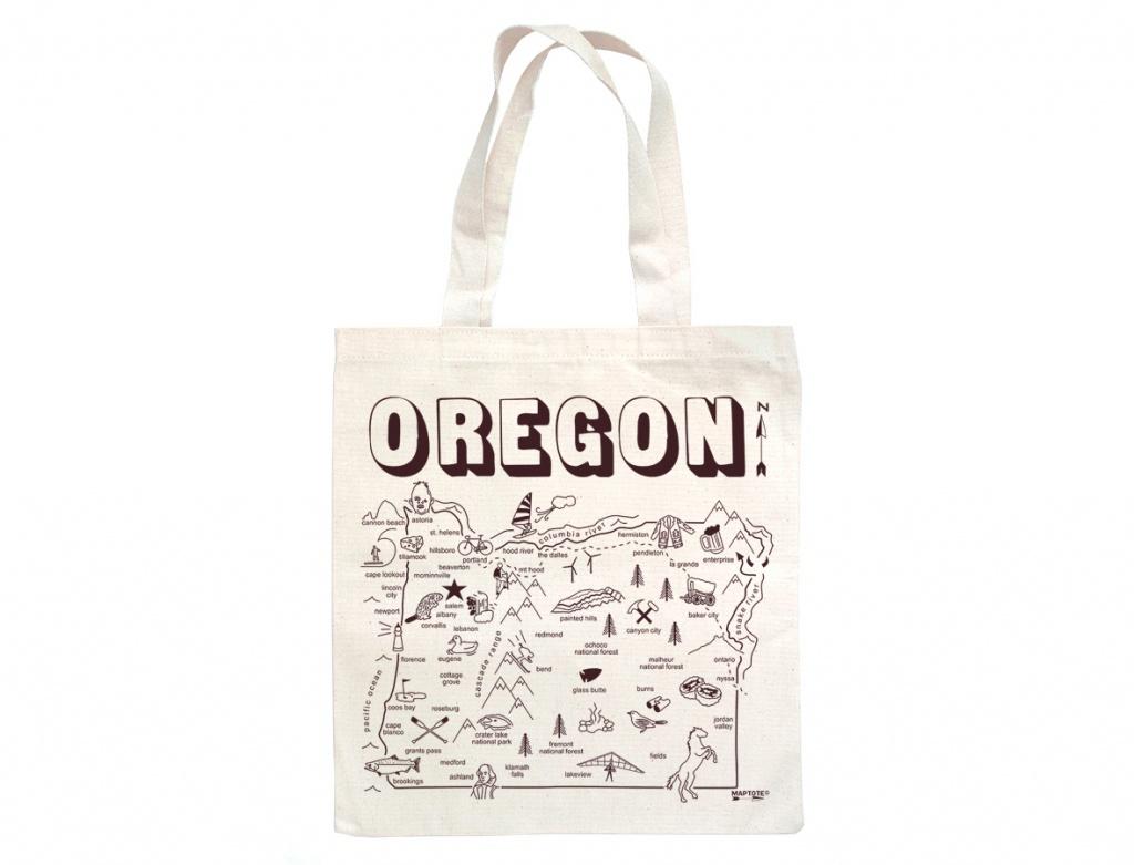 Maptote | Oregon Grocery Tote - Florida Map Purse
