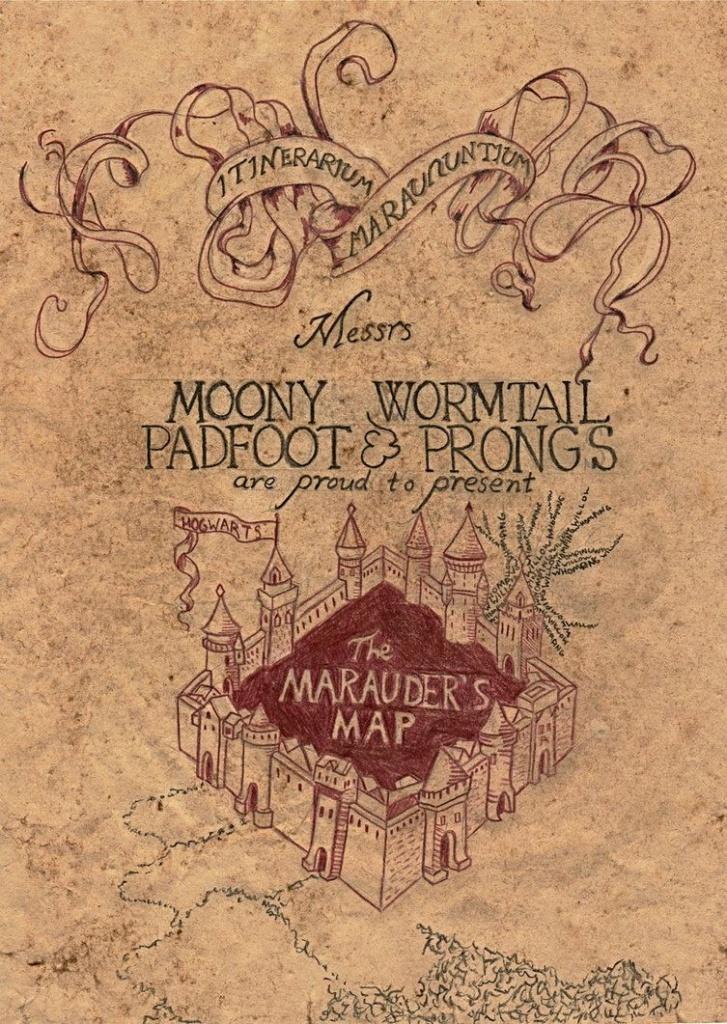 Marauder's Map | Harry Potter | Marauders Map, Harry Potter, Harry - Harry Potter Map Marauders Free Printable