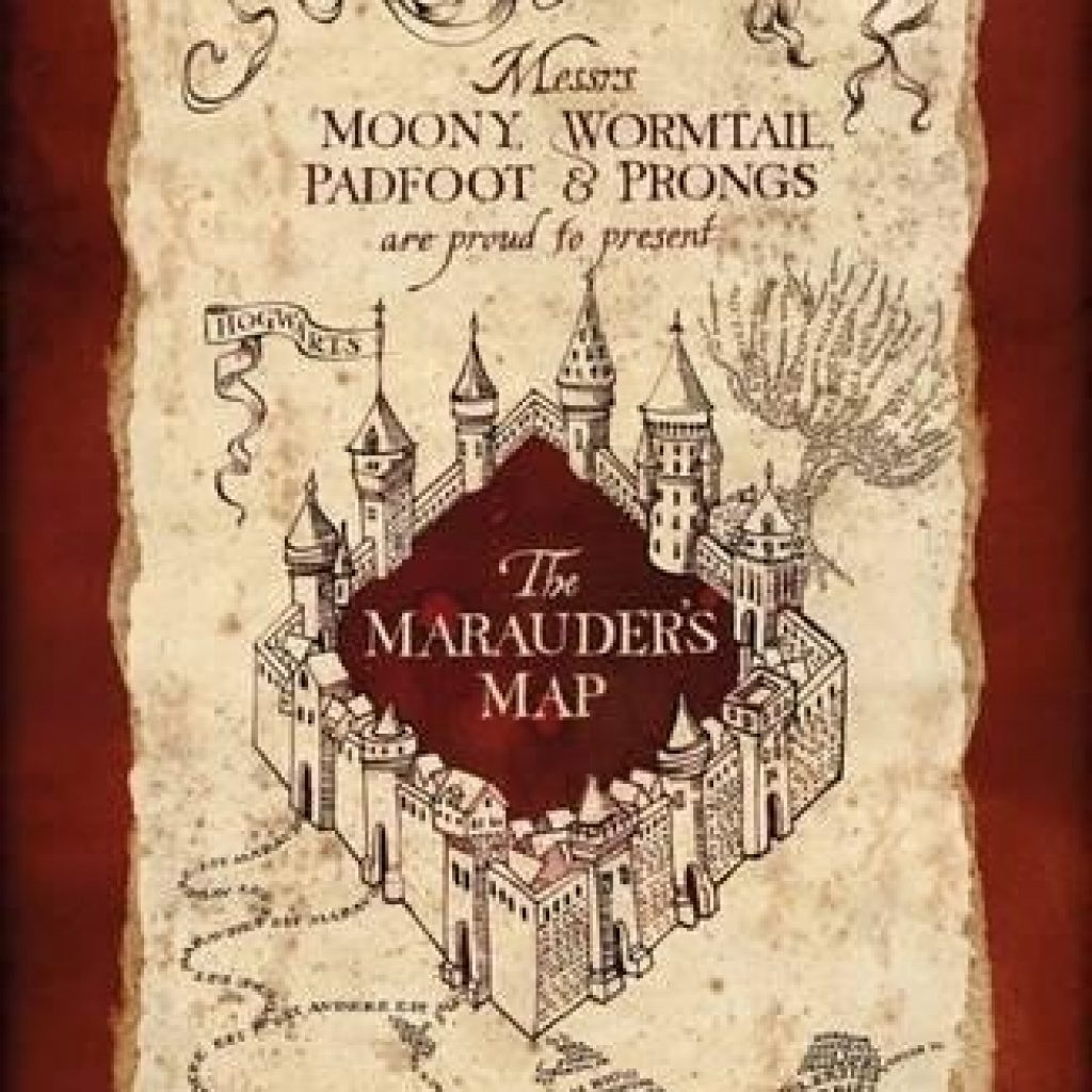 Marauders Map Printable Harry Potter Marauder S Posters At - Marauder's Map Replica Printable