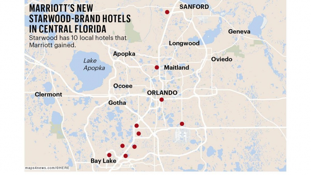 Marriott/starwood Deal May Result In More Hotels In Orlando - Starwood Hotels Florida Map