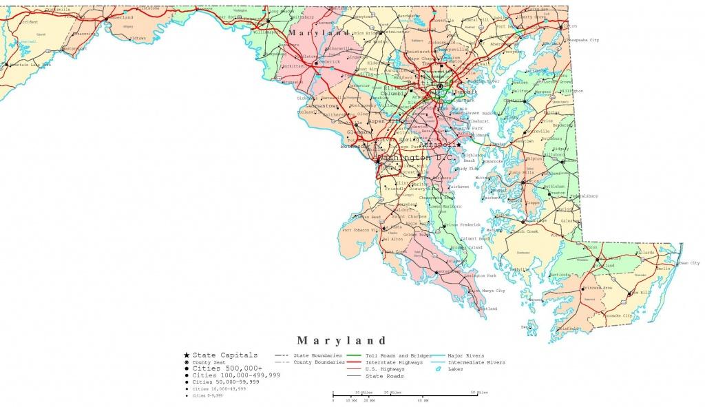 Maryland County Map Printable | Printable Maryland Map | Adorable In - Printable Map Of Maryland