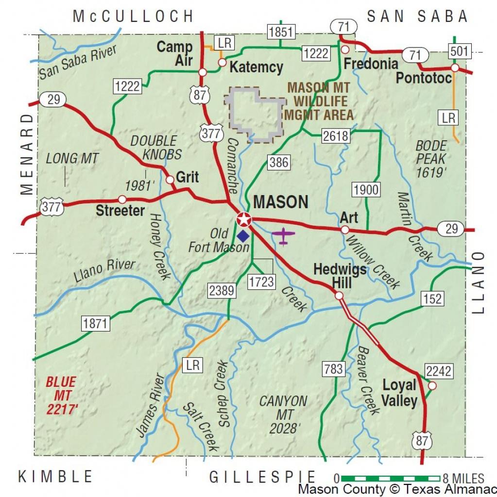 Mason County | The Handbook Of Texas Online| Texas State Historical - Llano Texas Map