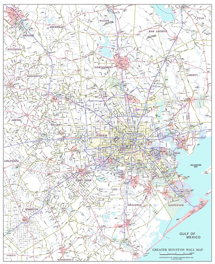 Mason Maps - Custom Mapping Solutions For Your Business - Greater - Show Map Of Houston Texas