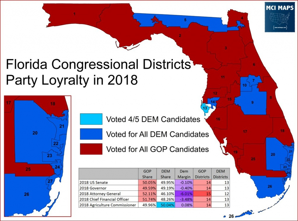 """Matthew Isbell On Twitter: """"article And Plenty Of Maps Looking At - Florida Congressional Districts Map 2018"""