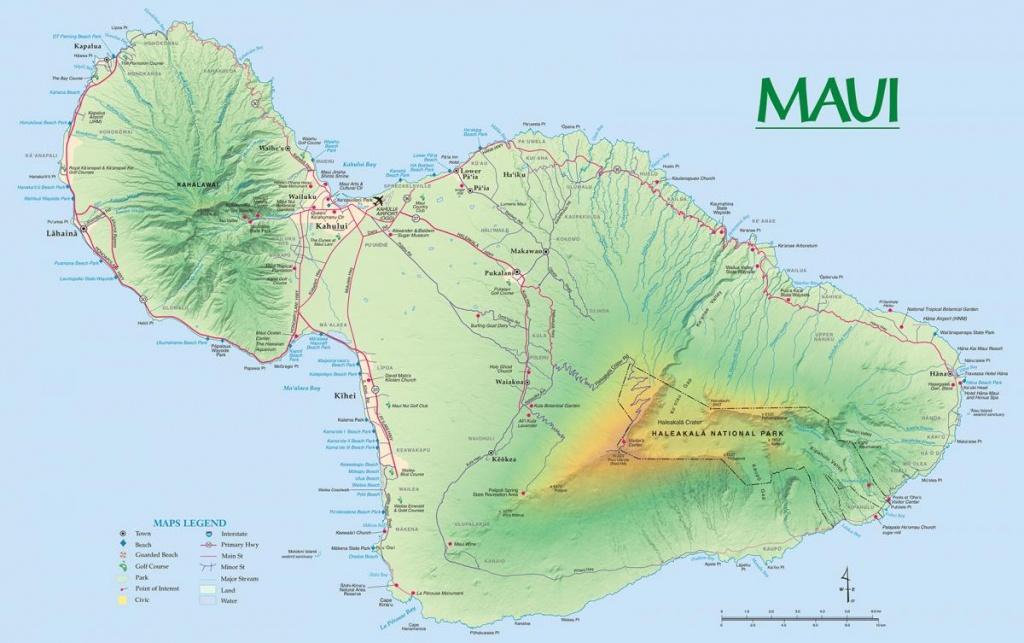 Maui Maps | Go Hawaii - Printable Map Of Maui